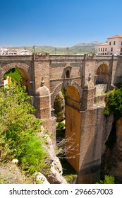 Ronda new bridge; vertical shot from west (Andalusia, Spain)