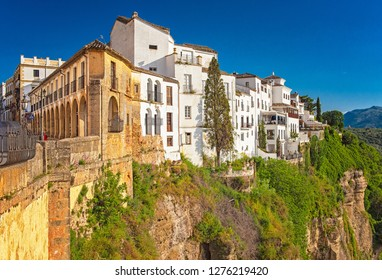RONDA, SPAIN - 18 MAY, 2018: Tajo de Ronda in Malaga, Spain on 18 May, 2018.
