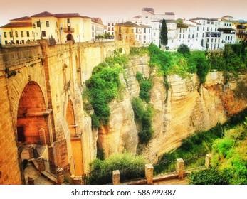 Ronda, Spain, a landscape with the Tajo Gorge