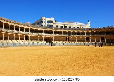RONDA, SPAIN - MARCH 10, 2015: Visitors to the Plaza de Toros or Bullring. The bullring at Ronda is the oldest bullfighting ring in Ronda, Andalusia,Spain.