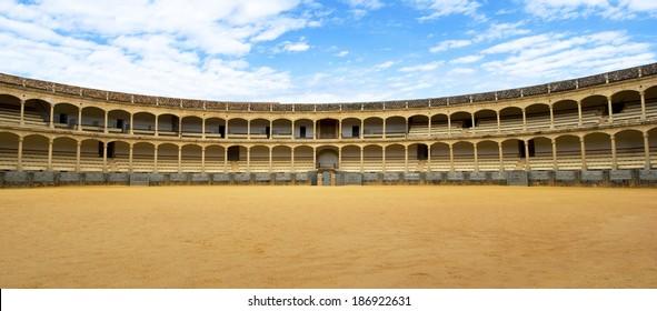 RONDA, SPAIN - NOVEMBER 5: Bullring in Ronda, Andalusia, Spain an November 5, 2012
