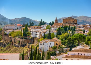 Ronda, Spain old town townscape.