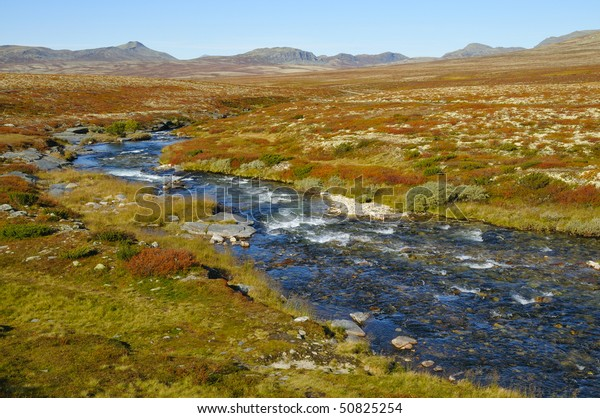 Rondane plateau in Norway in the autumn.