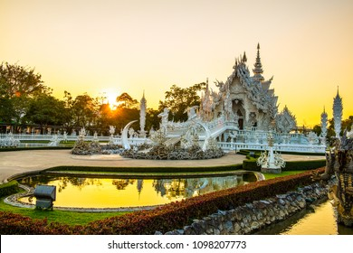 Rong Khun temple in Chiang Rai province, Thailand.