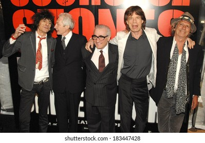 Ronnie Wood, Charlie Watts, Martin Scorsese, Mick Jagger, Keith Richards at SHINE A LIGHT Premiere, Clearview's Ziegfeld Theater, New York, NY, March 30, 2008