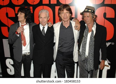 Ronnie Wood, Charlie Watts, Mick Jagger, Keith Richards at SHINE A LIGHT Premiere, Clearview's Ziegfeld Theater, New York, NY, March 30, 2008