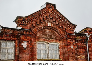 Roof of a beautiful old red brick building