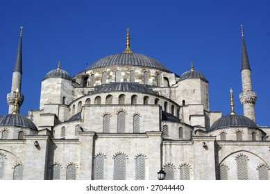 Roof of Blue mosque in Istanbul, Turkey