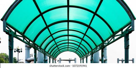 roof blue polycarbonate prevent sun and rain