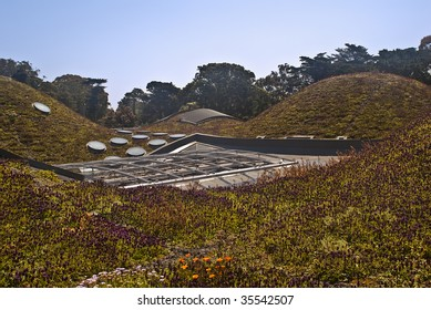 Roof of California Academy of Sciences at San Francisco