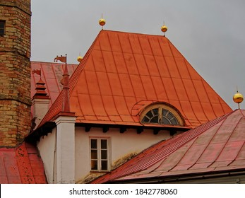The roof of the castle of the order of Malta. Palaces and parks of the Leningrad region. Gatchina.