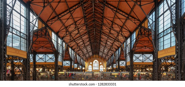 Roof of Central market hall in Budapest, Hungary