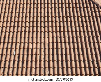 roof with ceramic tiles