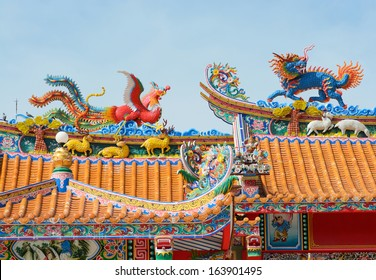 roof of china temple