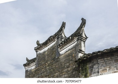 The roof of the Chinese ancient tradition house