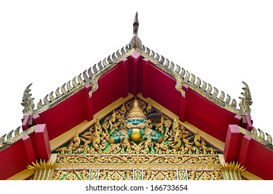the roof of the church is adorned Thailand patterns of religious belief