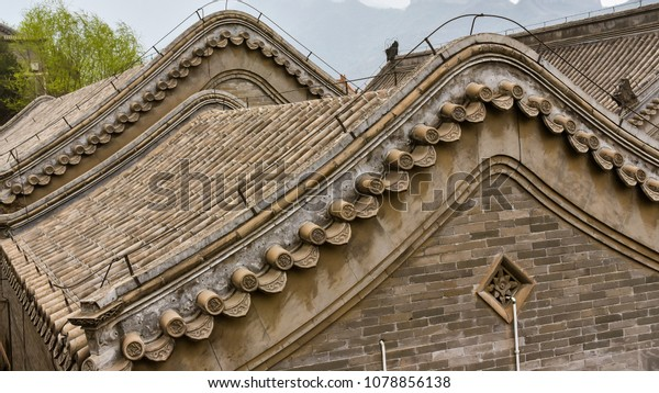 Roof Design Ancient Chinese Architecture Stock Photo Edit Now 1078856138