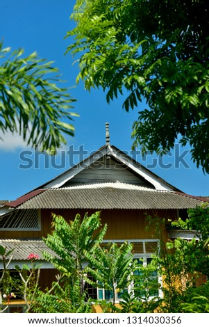 Roof Design Traditional Malay House Located Stock Photo Edit Now