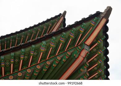 Roof detail at Changdeokgung palace