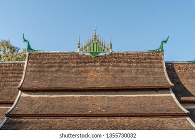Roof detail of the Wat Xieng Thong temple, Luang Prabang, Laos.