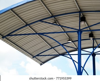 Roof Dome construction, Aluminum metal sheet shelter
