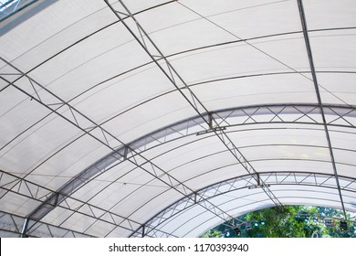 Roof Dome construction, canvas and metal sheet for event