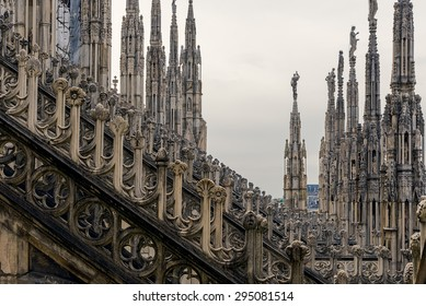 Roof of Duomo cathedral, Milan, Italy