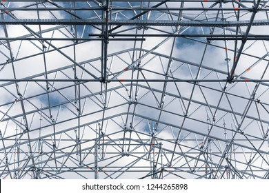 Roof frame against the sky