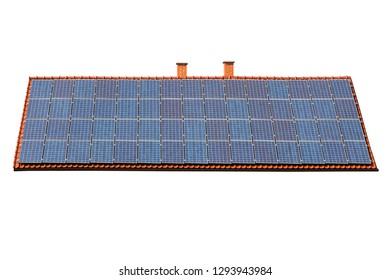 Roof full of solar panels