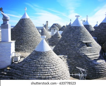Roof of the house of  Alberobello