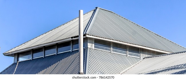 The roof of the house is made of galvanized metal profile