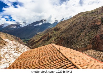 The roof of the house in the Peruvian Andes