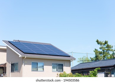 Roof of the house and solar power