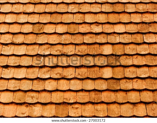 Roof of the house from a tree