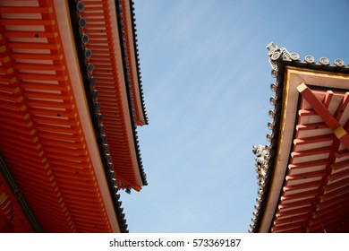 Roof of Kiyomizu dera Temple Gate, officially Otowa-san in Kyoto, Japan