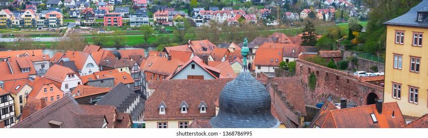 Roof Landscape of Wertheim, Germany