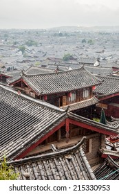 Roof of Lijiang old town , the UNESCO world heritage in Yunnan province, China.