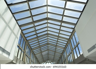 Roof of modern shopping mall. Abstract texture background