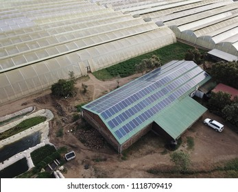 roof mounted solar power plant on a rose farm in kenya africa