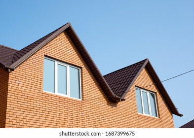 roof of newly builded house