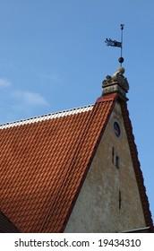 The roof in old Tallinn. Estonia.