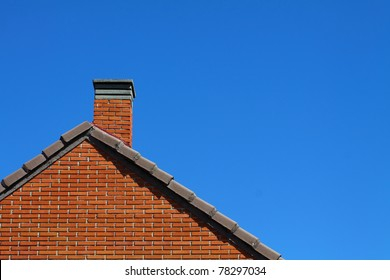 Roof over blue sky