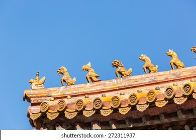 Roof of the palace of the Forbidden City, Beijing