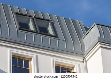 roof paneling with zinc metal