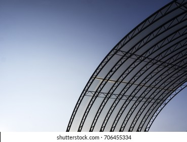 roof of polycarbonate against the sky