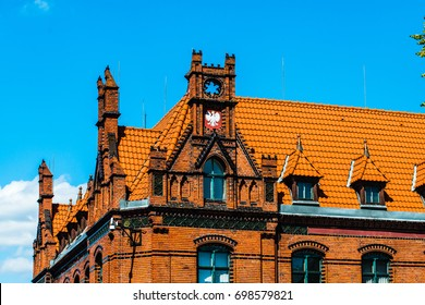 Roof of Post Office building in Chelmno (Poland)