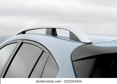 roof and rail of the car