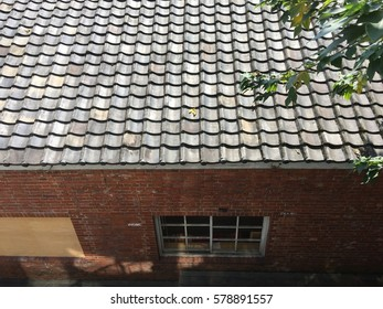 Roof red brick house window