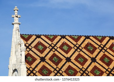 Roof of the Royal Monastery of Brou in Bourg en Bresse, France