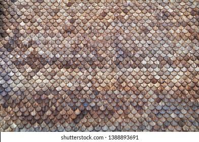 Roof shingles made of wood